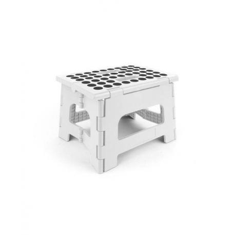Skládací stolička - bílá