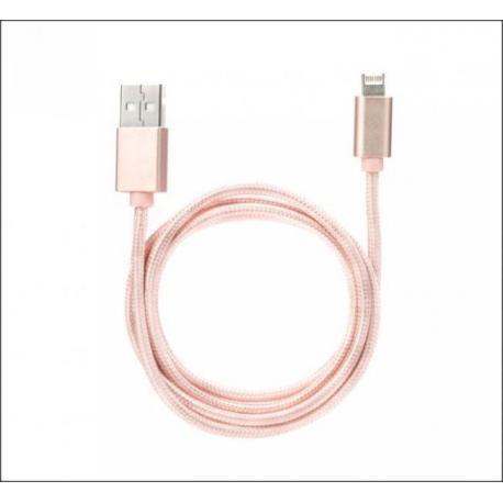 Super kabel 2 v 1 - rose gold